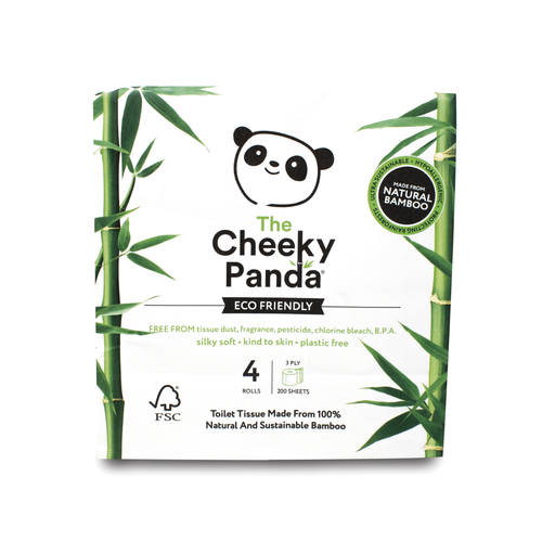 Cheeky Panda Ultra-Sustainable Plastic Free Bamboo Toilet Tissue Pack 4 1102181