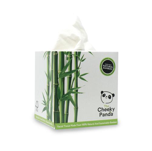 Cheeky Panda Ultra-Sustainable Plastic Free Bamboo Facial Tissues Cube 56 Sheets 1103040