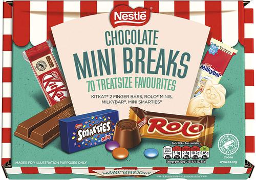 Nestle Chocolate Mini Breaks (Pack of 70) 12459813