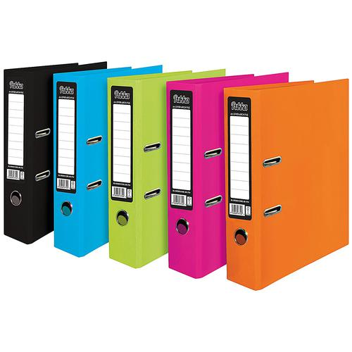 Pukka Brights Lever Arch File Laminated Paper on Board A4 70mm Spine Width Assorted (Pack 10)