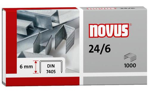 Novus Standard Staples 24 6 DIN Pack of 1000
