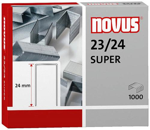 Novus No. 23/24 Super Staples 23 Gauge Wire 24mm Shank (Pack 1000)