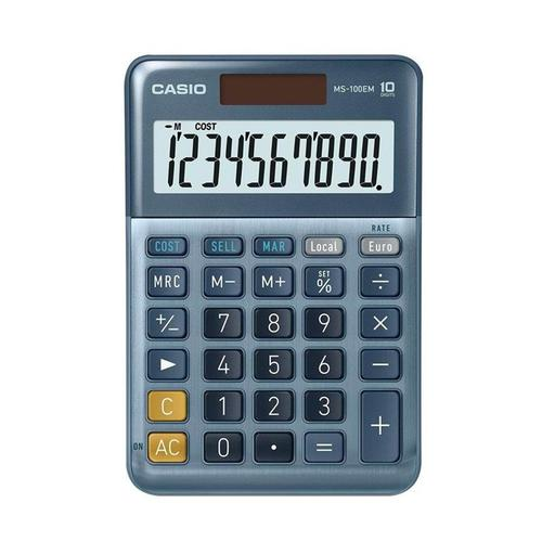 Casio MS-100EM 10 Digit Desk Calculator