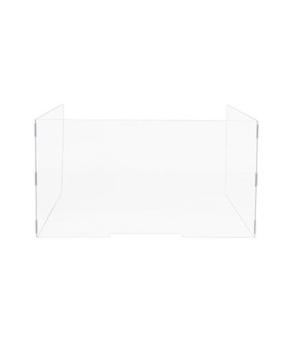 Bi-Office Acrylic Protective Divider Screen U Shape 1000x800mm Clear (Pack 3)