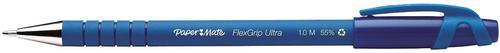 Paper Mate Flexgrip Gel Rollerball Pen 0.7mm Line Blue (Pack 12)