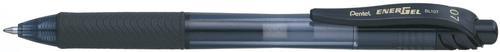 Pentel Energel X Gel Retractable Gel Rollerball Pen 0.7mm Tip 0.35mm Line Black (Pack 2)