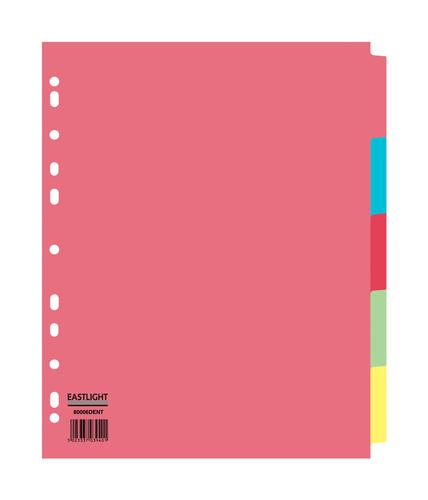 ValueX Divider 5 Part A4 Extra Wide 155gsm Card Assorted Colours