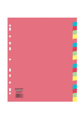 ValueX Divider 20 Part A4 155gsm Card Assorted Colours