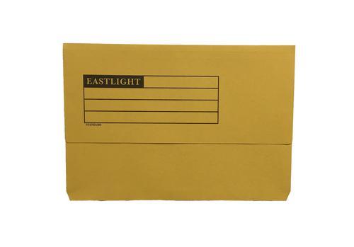 ValueX Document Wallet Manilla Foolscap Half Flap 250gsm Yellow (Pack 50)