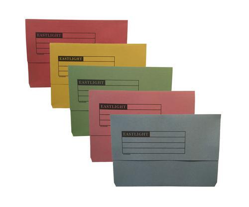 ValueX Document Wallet Manilla Foolscap Half Flap 250gsm Assorted (Pack 50)