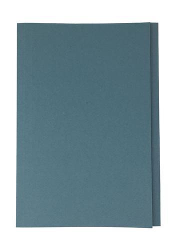 ValueX Square Cut Folder Manilla Foolscap 250gsm Blue (Pack 50)