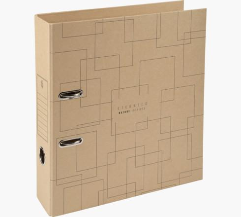 Exacompta Eterneco Prem Touch Lever Arch File Paper on Board A4 70mm Spine Width Brown Geometrical Design (Pack 10)