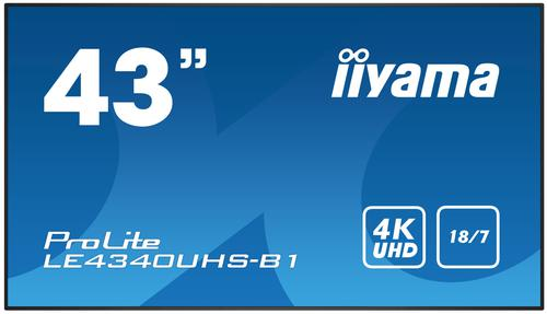 iiyama 43in ProLite LE4340UHSB1 Display
