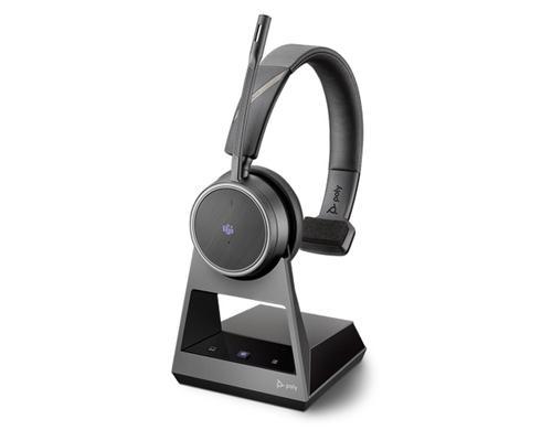 Poly Voyager 4210 Office EMEA Bluetooth Wireless Mono Headset 2 Way Base Microsoft Teams USB A Cable 94 dB Sensitivity 32 Ohm