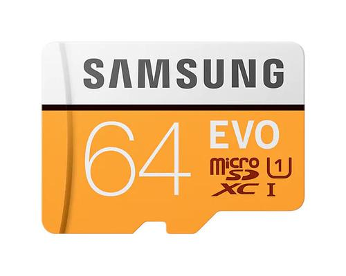 64GB EVO CL10 MicroSDXC and Adapter