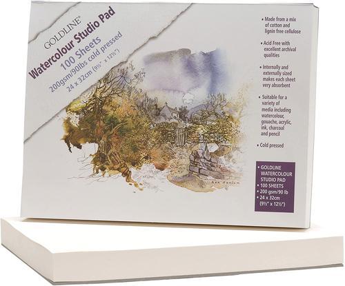 Goldline Studio Pad 24x32cm 100sh (Pack 5) 421/1021Z