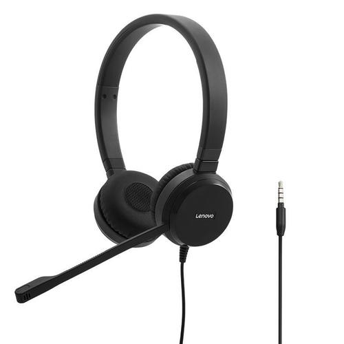 Lenovo Pro Wired Stereo VOIP Headset Headband 3.5mm Connector 150Hz to 7kHz Frequency Range Black