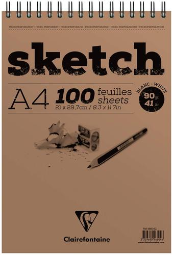 Sketch Wirebnd Pad A4 100sh White (Pack 5) 96604C