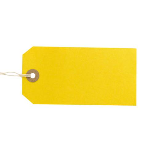 ValueX Reinforced Coloured Strung Tag 120x60mm Yellow (Pack 1000) T257824