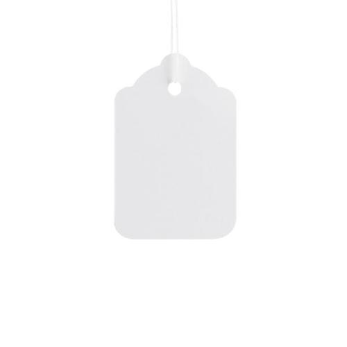 ValueX Reinforced Coloured Strung Tag 37x24mm White (Pack 1000) T257838