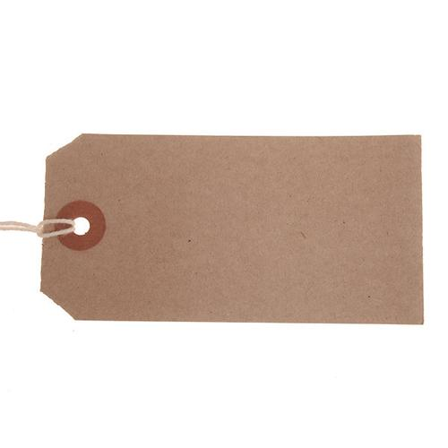 ValueX Reinforced Strung Tag 96x48mm Buff (Pack 1000) T257775