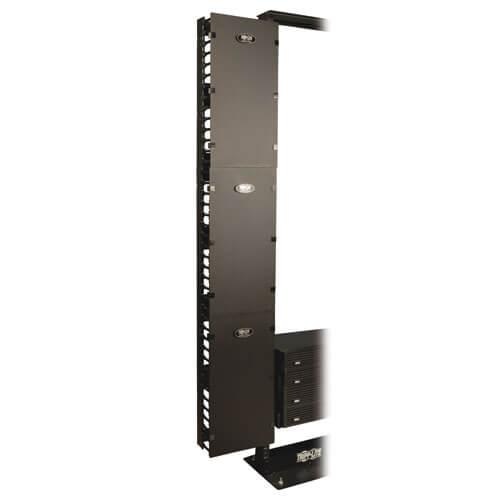 Tripp Lite SmartRack 12 in. Width High Capacity Vertical Cable Manager Double finger duct with cover