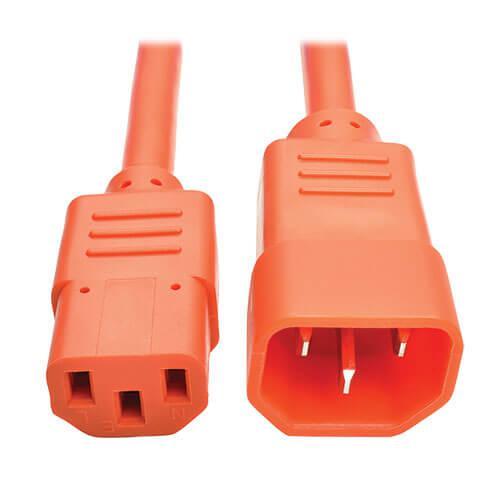 Tripp Lite PDU Power Cord C13 to C14 10A 250V 18 AWG 6ft Orange