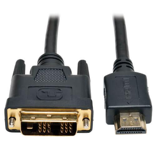 Tripp Lite HDMI to DVI Cable Digital Monitor Adapter and Video Converter HDMI to DVI D 3ft