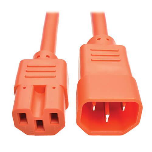 Tripp Lite Power Cord C14 to C15 Heavy Duty 15A 250V 14 AWG 3ft Orange