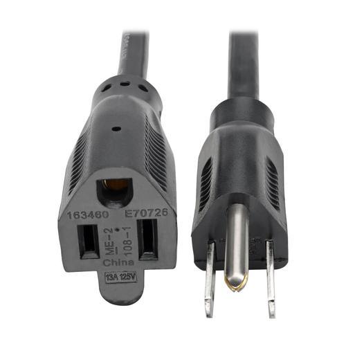 Tripp Lite Power Extension Cord NEMA 5 15P to NEMA 5 15R 13A 120V 16 AWG 6ft Black