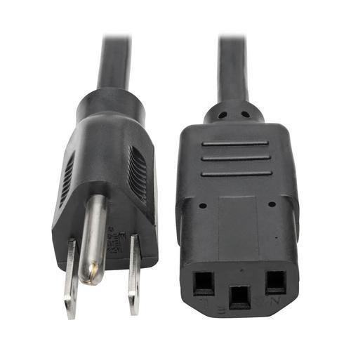 Tripp Lite Desktop Computer AC Power Cable NEMA 5 15P to C13 13A 125V 16 AWG 8ft Black