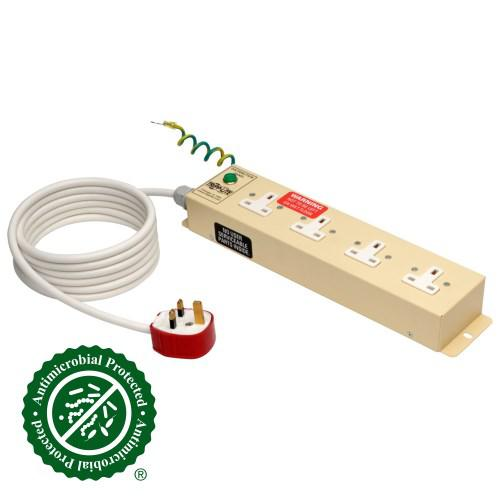Tripp Lite UK BS 1363 Medical Grade Power Strip with 4 UK Outlets 3m Cord