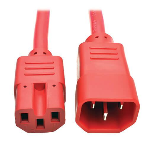 Tripp Lite Power Cord C14 to C15 Heavy Duty 15A 250V 14 AWG 3ft Red
