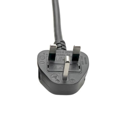 Tripp Lite UK Computer Power Cord C19 to BS1363 13A 250V 16 AWG 2.4 m Black