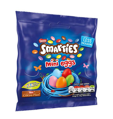 Smarties Mini Eggs Pouch 240g