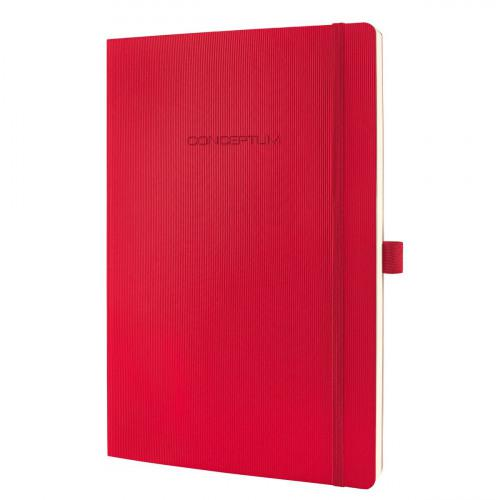 Sigel CONCEPTUM A4 Casebound Soft Cover Notebook Ruled 194 Pages Red 3 for 2 Offer