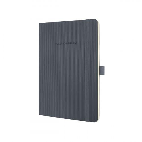 Sigel CONCEPTUM A5 Casebound Soft Cover Notebook Ruled 194 Pages Dark Grey 3 for 2 Offer