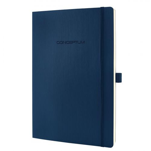 Sigel CONCEPTUM A4 Casebound Soft Cover Notebook Ruled 194 Pages Blue 3 for 2 Offer