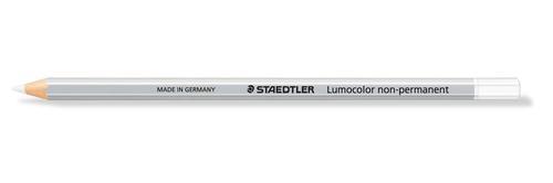 Staedtler Lumocolor Non-Permanent Omnichrom Pencil White (Pack 12) 108-0