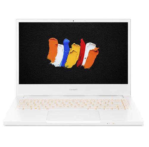 Acer ConceptD 3 CN314 72G 14 Inch Creator Laptop Intel Core i7 10750H 16GB RAM 512GB SSD NVIDIA GeForce GTX 1650 Full HD Display Windows 10 Pro White