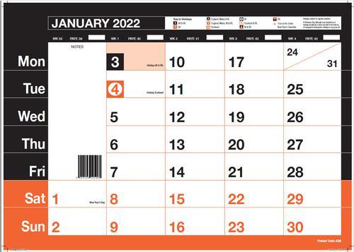 ValueX Monthly Memo Calendar A3 2022 A3M