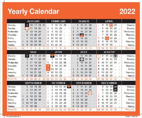 ValueX Board Calendar Year To View 2022 YC1