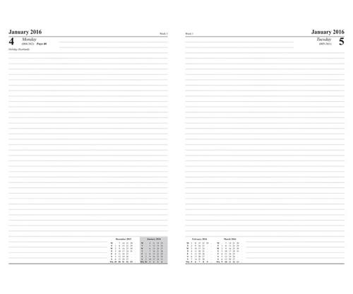 ValueX Diary A4 Day Per Page 2022 BK BUSA41 Black