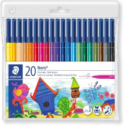Staedtler Noris Fibre-Tip Pens (Pack 20) 326 WP20