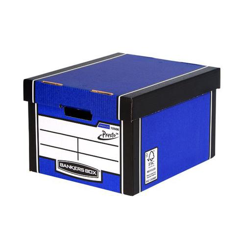 Premium Tall Box-Blue (Fsc) Storage Box 5  Pack 3 for 2
