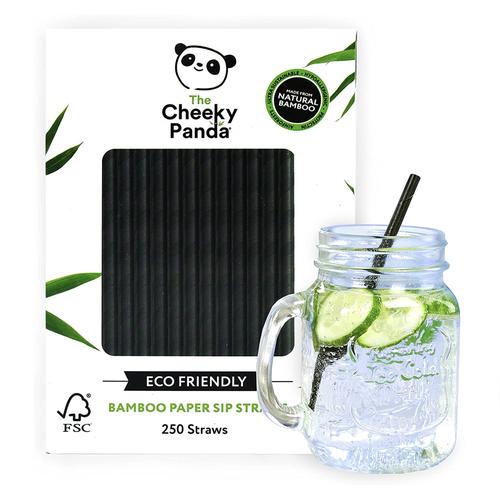 Cheeky Panda Bamboo Paper Straws Black Pack 250 0111130