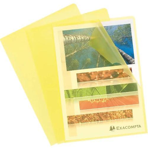 ValueX Cut Flush Folder A4 Grain PP Yellow PK10 56116E