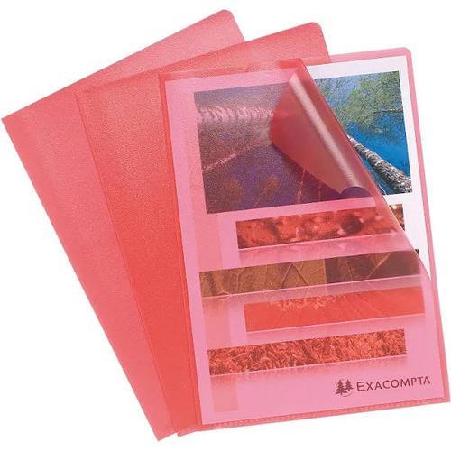 ValueX Cut Flush Folder A4 Grain PP Red PK10 56115E