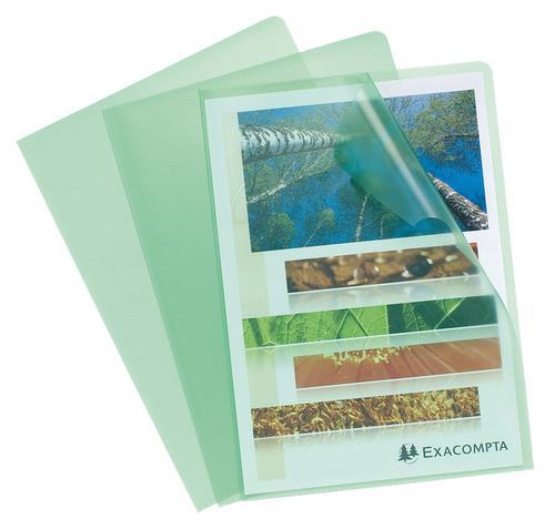 ValueX Cut Flush Folder A4 Grain PP Green (Pack 10) 56113E