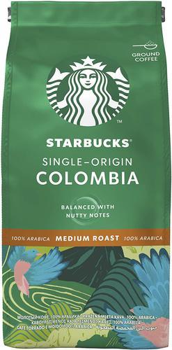 STARBUCKS Single Origin Columbia Medium Roast Ground Coffee 200g 12400229